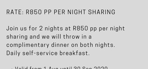 2 Nights, Dinner, Bed and Breakfast